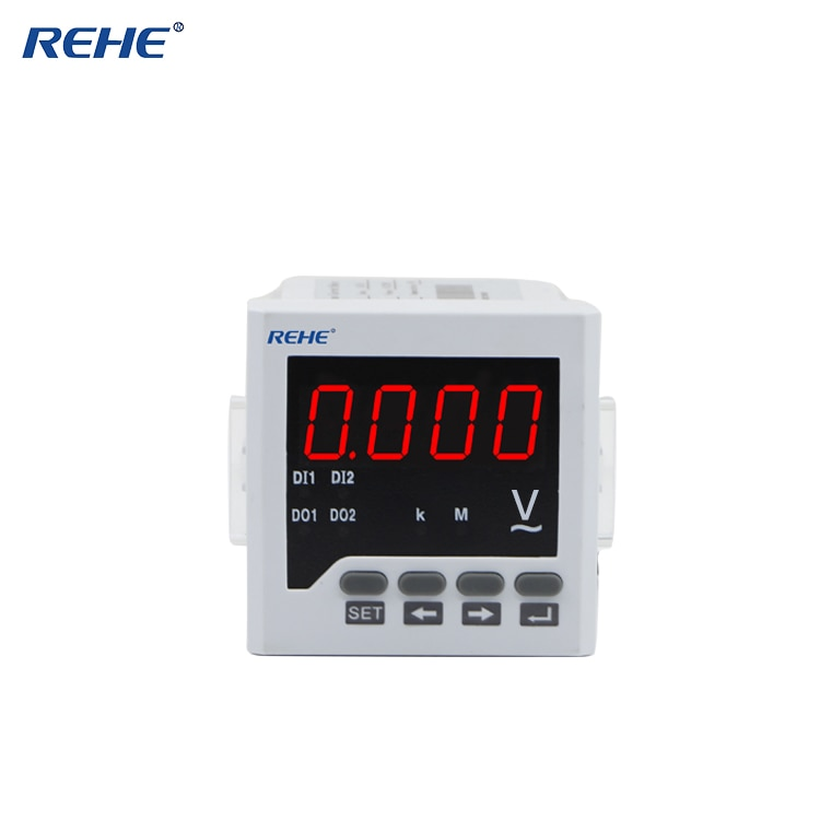 REHE AC RH-AV61 72*72MM montaje de Panel Digital de alta calidad sólo voltímetro monofásico medidor eléctrico LED