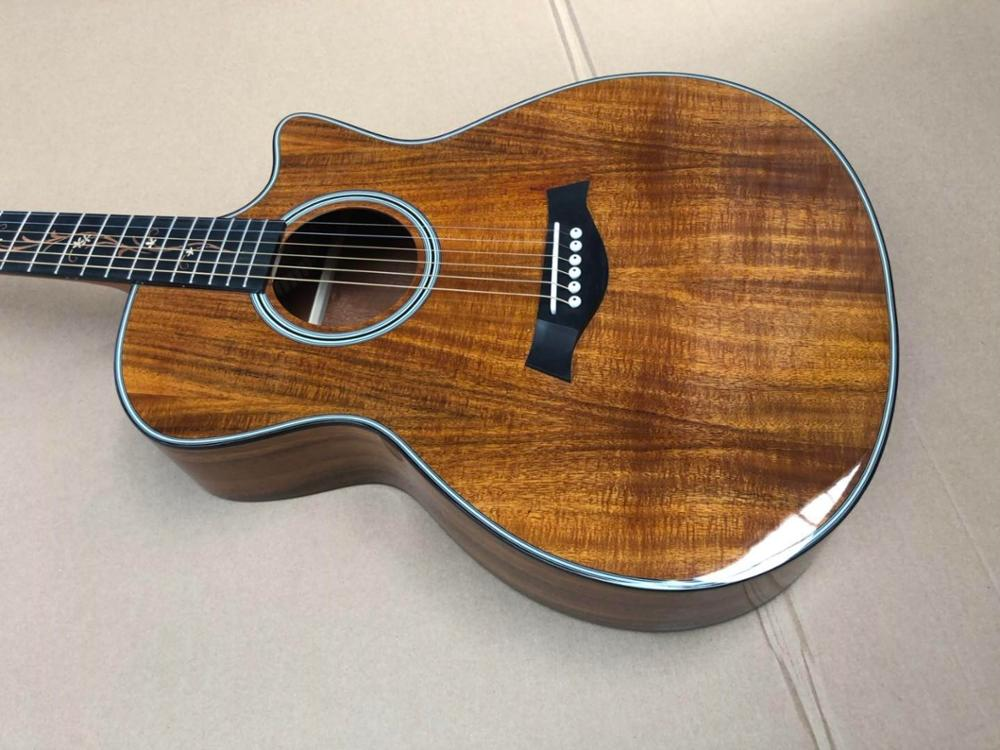 Vid ébano Fretboard KOA K24 guitarra acústica Chaylor KOA, guitarra acústica eléctrica de madera, envío gratis, guitarra acústica KOA K24ce