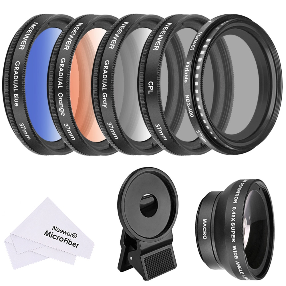 neewer-37-mm-cell-phone-lens-accessory-kit0-45x-wide-angle-lenslens-clipgraduated-color-filterscpl-filternd2-400-filter