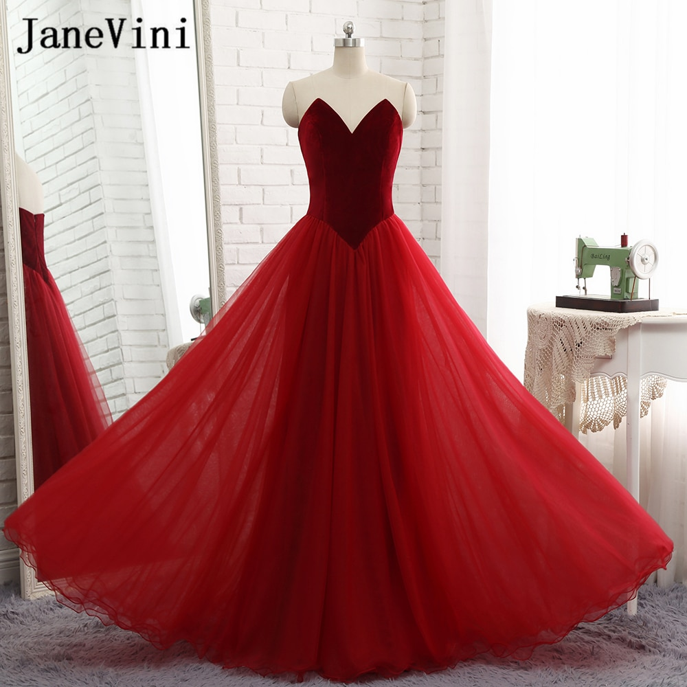 maid of honor dresses for weddings bridesmaid party dresses for women long prom dress graduation dresses back of bandage a line JaneVini Burgundy Tulle Simple Long Bridesmaid Dresses for Weddings A Line Sweetheart Backless Floor Length Maid of Honor Gowns