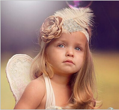 2016 New Flower Baby Headband Girls Headband Lace Feather Headband Shabby Chic Vintage Headbands for photo prop Hair Accessories