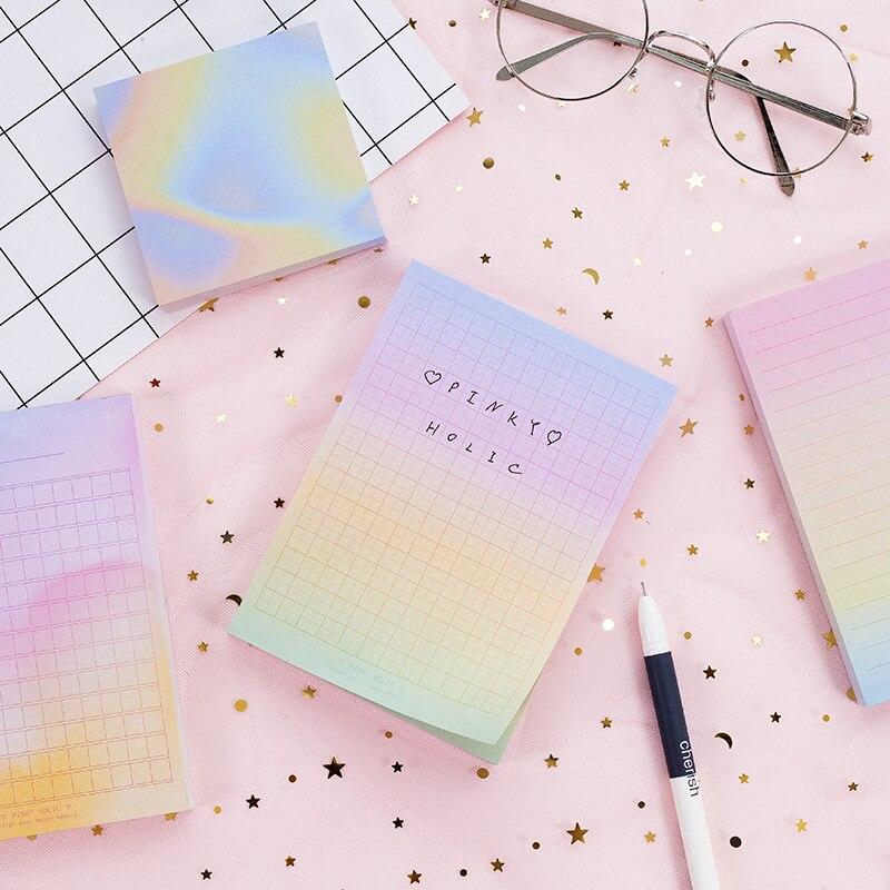 Радуга цветной лазерный записная книжка 100 листов линии сетки блокнот дневник плановики ноутбуки канцелярские офисные школьные принадлежн...