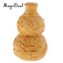 2.3 Small Wooden Handmade Sculpture Dragon Pattern Gourd Shaped Decoration