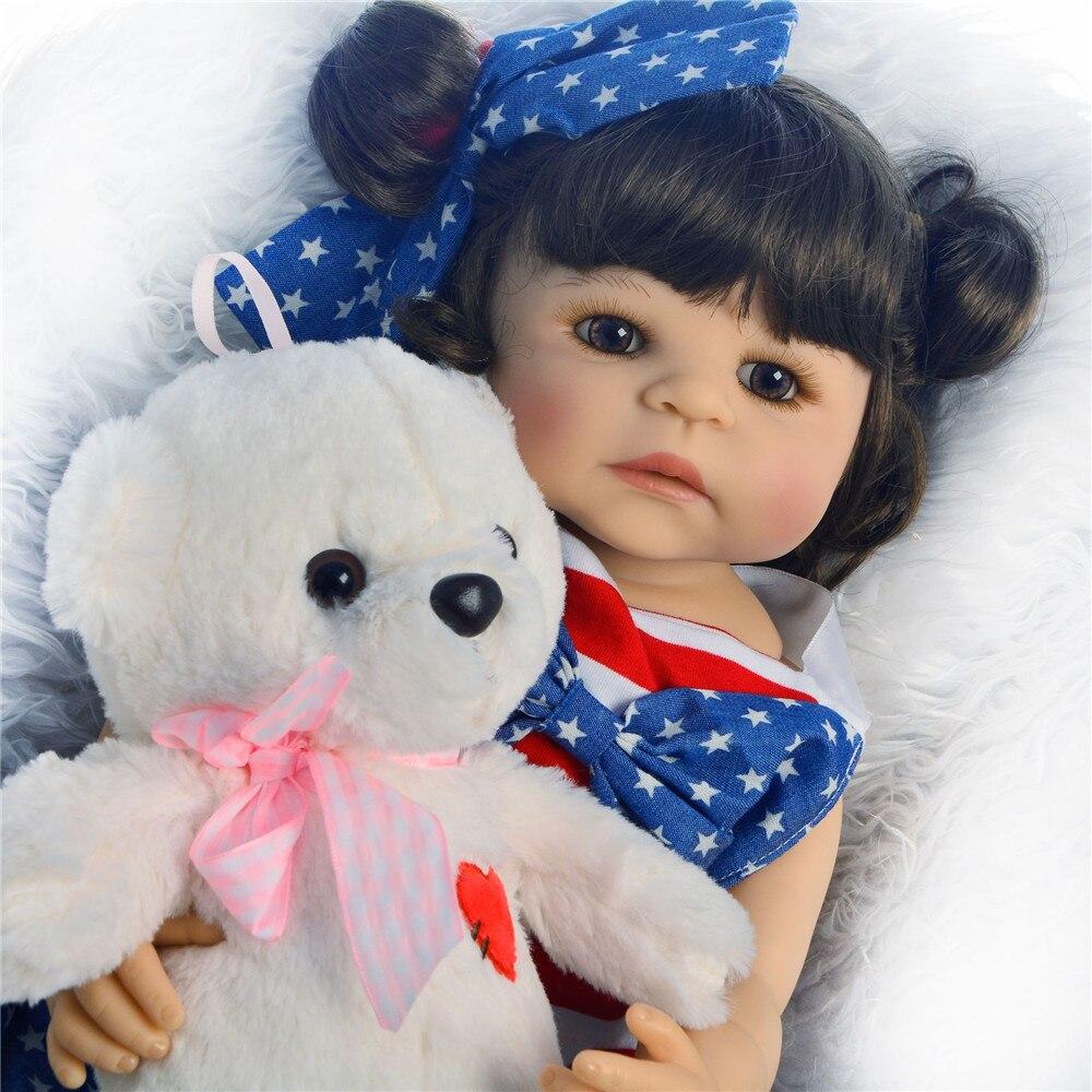 Muñecas de vinilo de 55cm para recién nacidos, muñecas de silicona suaves y bonitas para bebés recién nacidos, regalos de muñecas realistas para niños, bebes Reborn menina
