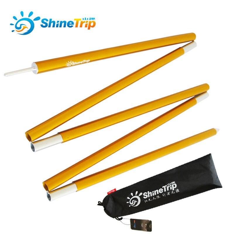 ShineTrip 2 teile/satz Hohe Festigkeit sonnenschirm pol größer markise stange Camping Zelt Pole Aluminium Legierung stange Zelt zubehör Rohr