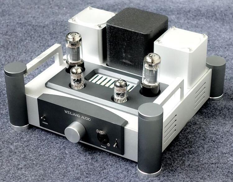 Tubo amplificador E400 pre amp tubo 12AX7 6P6 o 6v6 RCA entrada RCA, salida de 6,3mm para HD800 T1