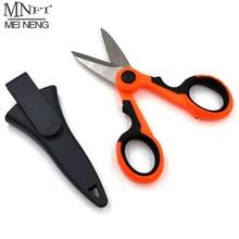 MNFT 1Set Fishing Scissors&Storage Case Braid Line Lure Cutter 14cm Mini Fish Use Scissors Multifunction Portable Fishing Tools