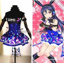 Love Live School idole Project Cyber jeux vidéo Sonoda Umi Light Up robe Slip robe t-shirt tenue uniforme Anime Cosplay Costumes