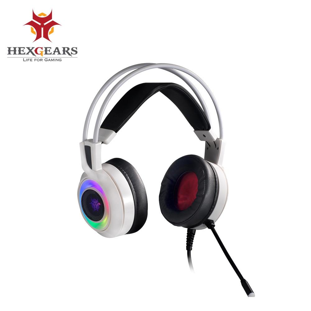 Hexgear GH102 سماعات الألعاب USB هاتف الكمبيوتر الأذنية هيئة التصنيع العسكري الألعاب باس سماعة 7.1 ستيريو RGB ضوء صدمة ردود الفعل