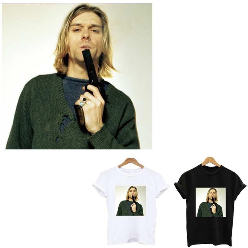 Утюжок nirvana Kurt Donald Cobain, наклейки на патчи, полоски на одежде, утюжок, полоски, Аппликации нашивки, топы