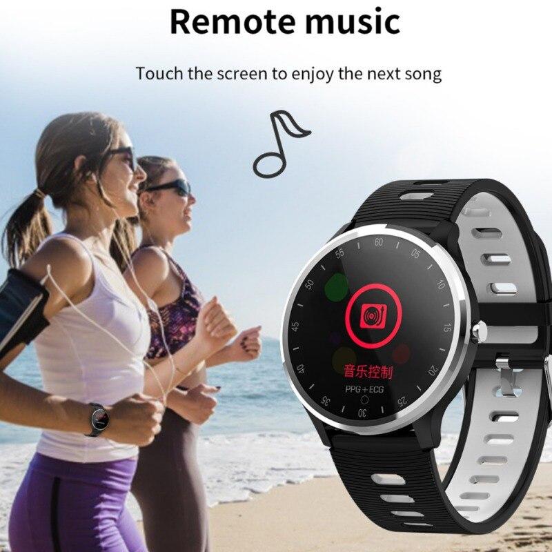 Pulsera inteligente rastreador de Fitness pulsera inteligente reloj inteligente a prueba de agua en tiempo Real. Presión arterial de frecuencia cardíaca ECG PPG de larga duración