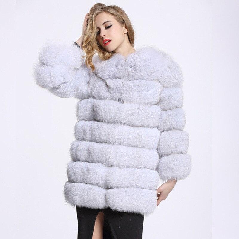 ZADORIN-abrigos largos de visón de lujo para mujer, abrigo de piel sintética...