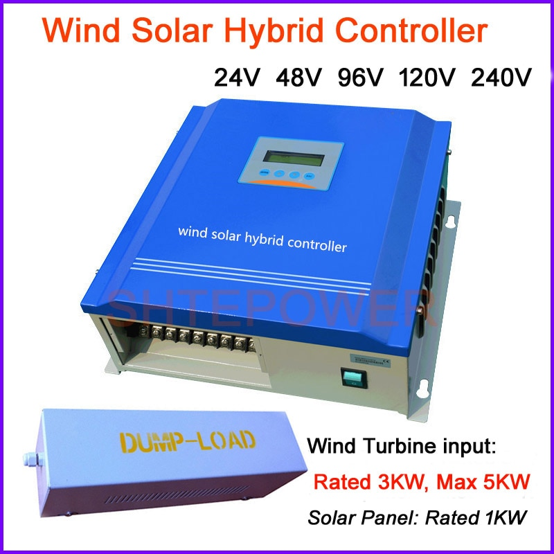 وحدة تحكم الرياح الشمسية الهجينة ، نظام PWM ، 3000 واط ، 24 فولت/48 فولت/96 فولت/120 فولت/240 فولت ، 1 كيلو واط ، مولد الرياح ، شاشة LCD
