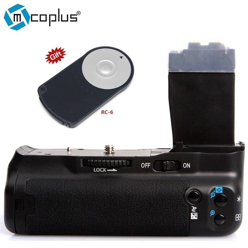 Mcoplus bg-550d vertikale batteriegriff halter für canon eos 550d 600d 650d 700d t2i t3i t5i t4i kamera als bg-e8 meike mk-550d