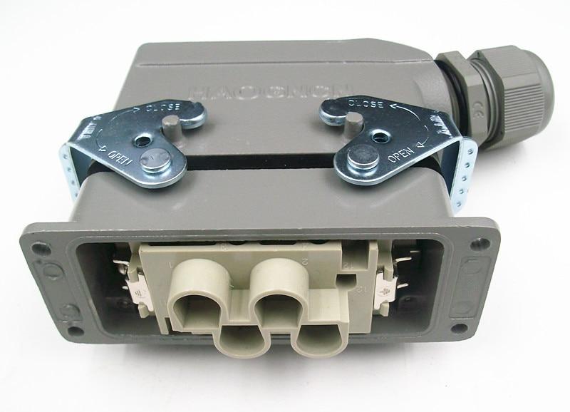 hdc hk 4 2 006 m f conector de carga pesada retangulo plugue 6 nucleo 80a 16a vai eletrica atual