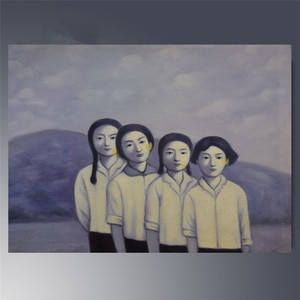 Hand painted Canvas paintings Zhang XiaoGang Women Contemporary art painting oil Modern home decor wall art for room