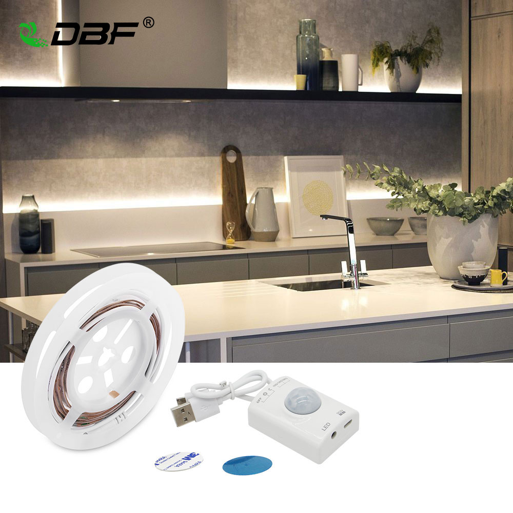 Светодиодная лента с питанием от USB, датчиком движения и ручным режимом, с автоматическим таймером отключения