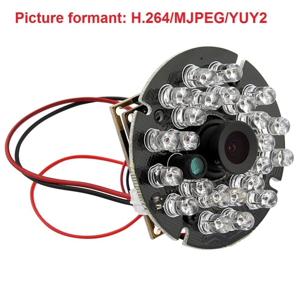 720P HD OV9712 CMOS conductor libre H.264 usb 2,0 de alta velocidad mini cámara digital usb ir con micrófono de Audio