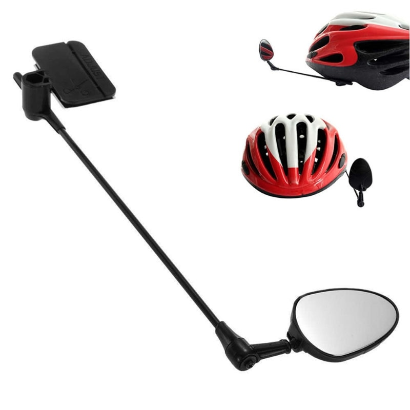 Bicicleta ciclismo vista trasera casco de seguridad espejo retrovisor de motocicleta ciclismo casco espejo nuevo 360 grados