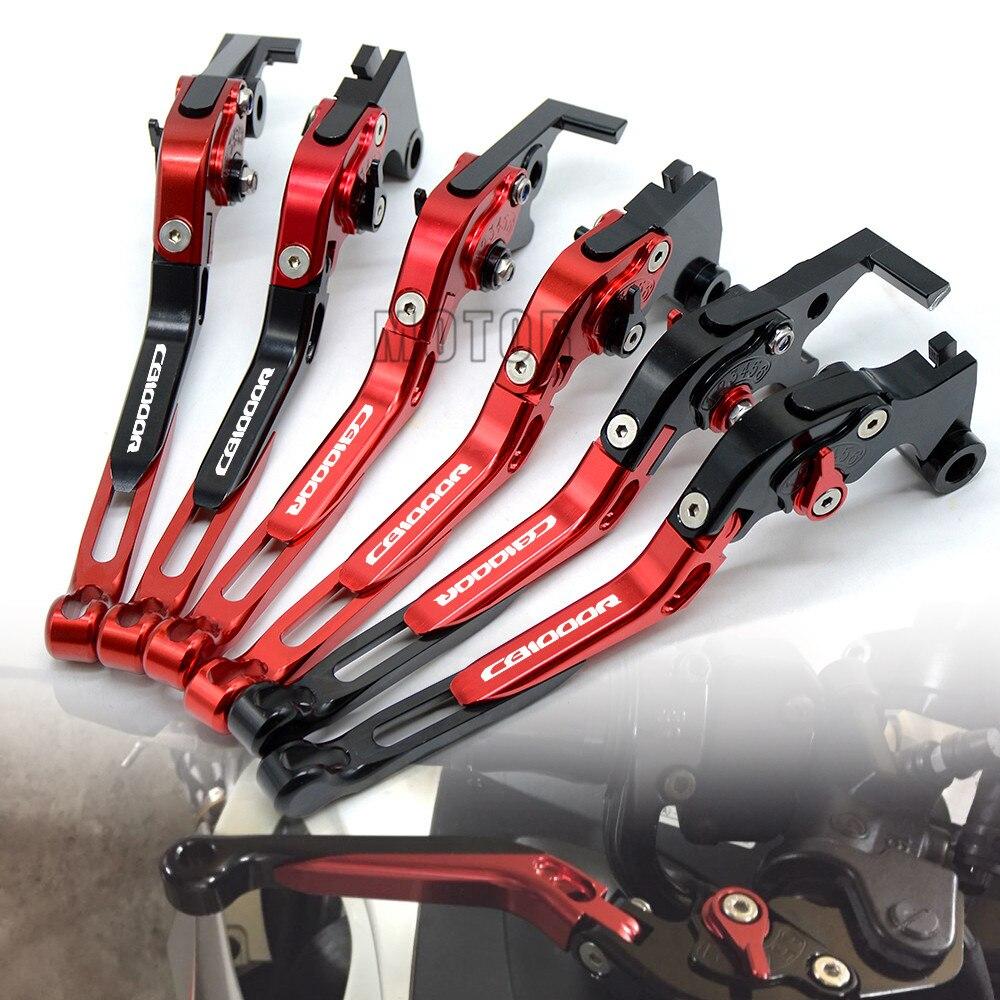 Palancas de embrague de freno plegables de aluminio CNC para motocicleta Honda CB1000R 2008-2016 extensible ajustable plegable CB 1000R 1000 R