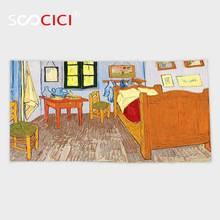 Serviette de bain/petite serviette Ultra douce   Serviette en microfibre personnalisée, accessoires de peinture à lhuile en tissu de Reproduction et rustique de Van Gogh pour la maison