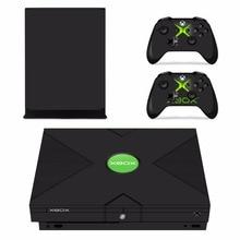 Custom Design Abnehmbare Haut Aufkleber Für Microsoft Xbox One X konsole und 2 Controller Für Xbox One X Haut Aufkleber Vinyl