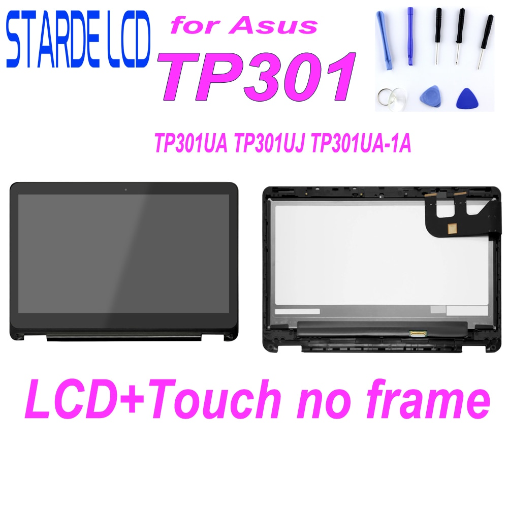شاشة LCD تعمل باللمس مقاس 13.3 بوصة لجهاز Asus Transformer Book TP301 و TP301U و TP301UJ و TP301UA