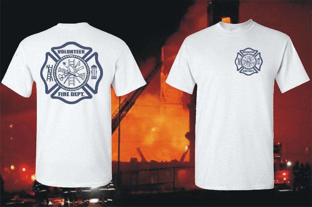 Strażak ochotniczej straży pożarnej na ratowanie Emt T-Shirt graficzny biały dwustronnie bluzy z kapturem