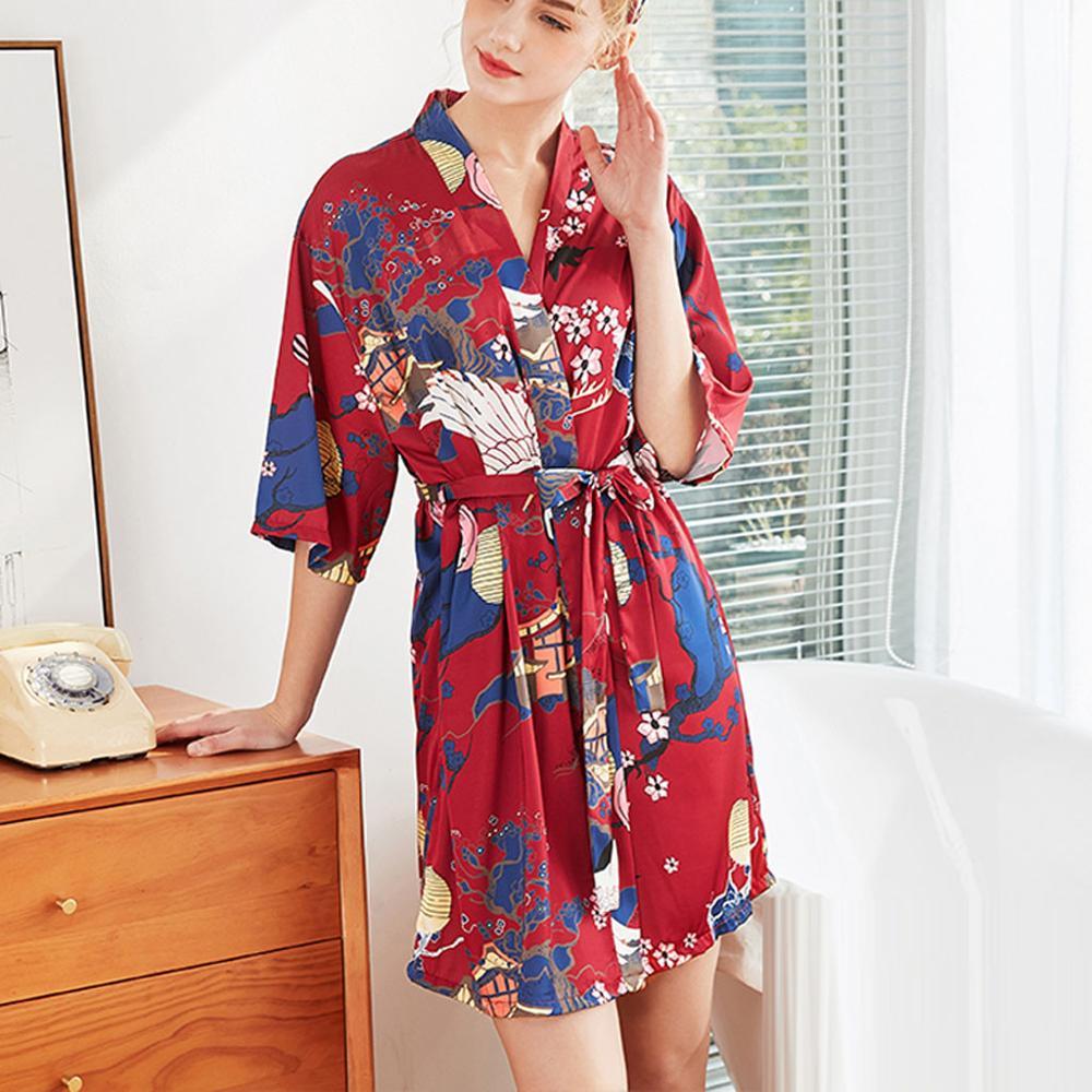 Trajes de dama de honor de la novia trajes de novia pijamas Albornoz camisón mujeres satén boda Kimono ropa de dormir conseguir Lencería batas 2019