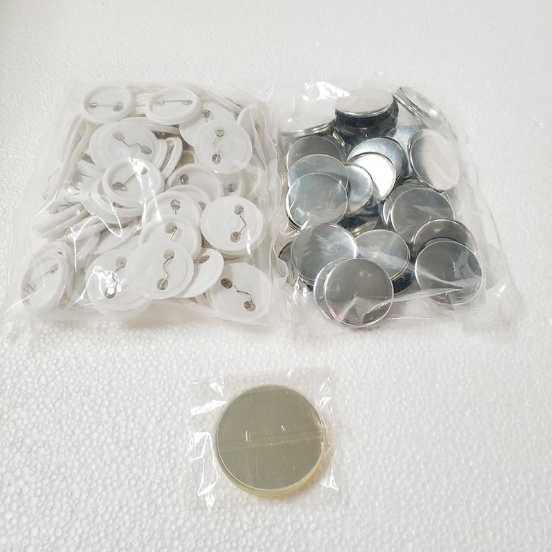 Envío Gratis, descuento, conjuntos en blanco de 37mm 100, fabricante profesional de insignias, Pin Back, materiales de suministro de botones