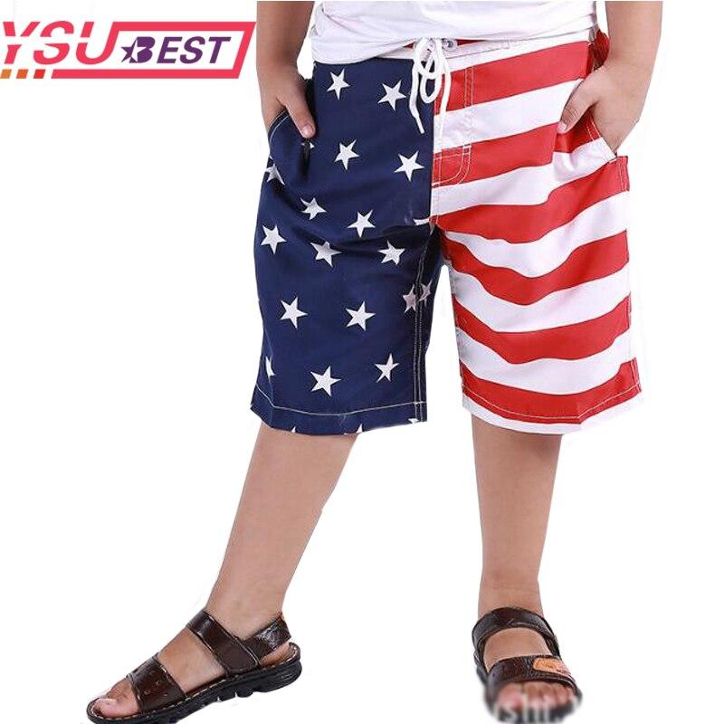 2020 Shorts de verano para chicos bañadores de secado rápido para niños pantalones cortos de camuflaje para la playa pantalones de Surf para niños bandera americana
