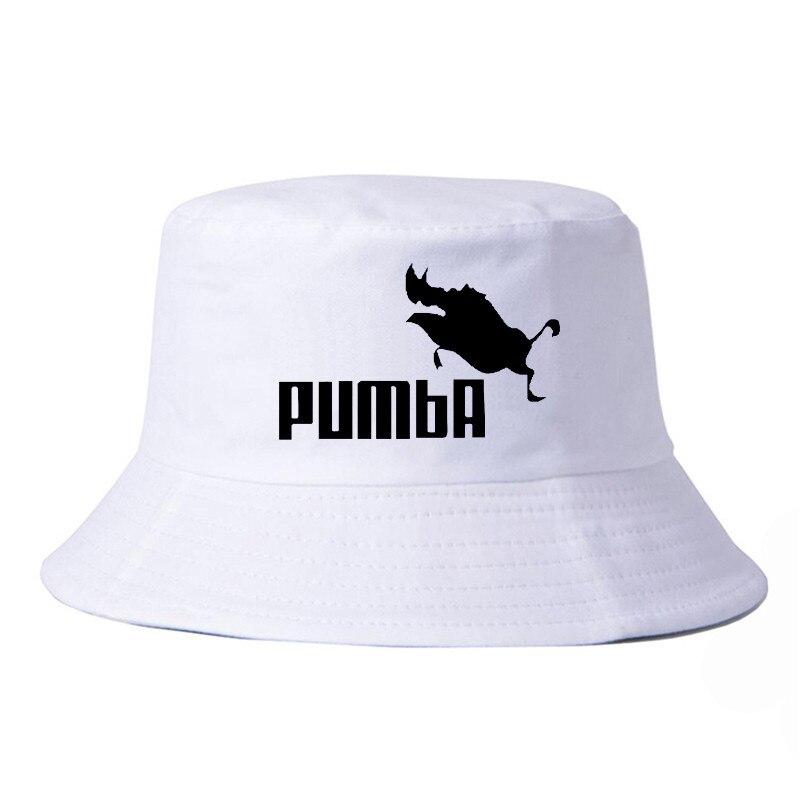 Harajuku po divertido bonito sombrero de Pumba para hombres y mujeres, sombrero de cubo para el aire libre, caza Panamá, gorra de pesca, sombrero de pescador, gorra de Sol de moda para mujeres