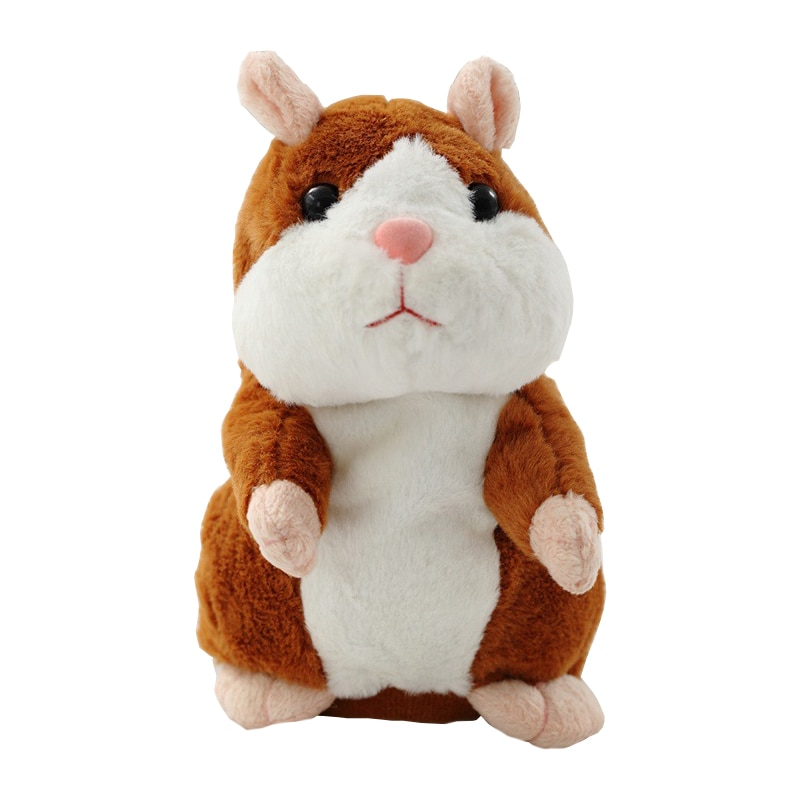 15cm Lovely Talking Hamster Speak Talk Sound Record Repeat Stuffed Plush Animal Kawaii Hamster Toys