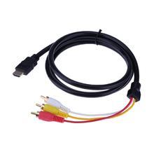 1,5 M HDMI Zu RCA HDMI Männlich zu 3RCA AV Composite Männlichen M/M Stecker Adapter Kabel Sender für TV Set-Box