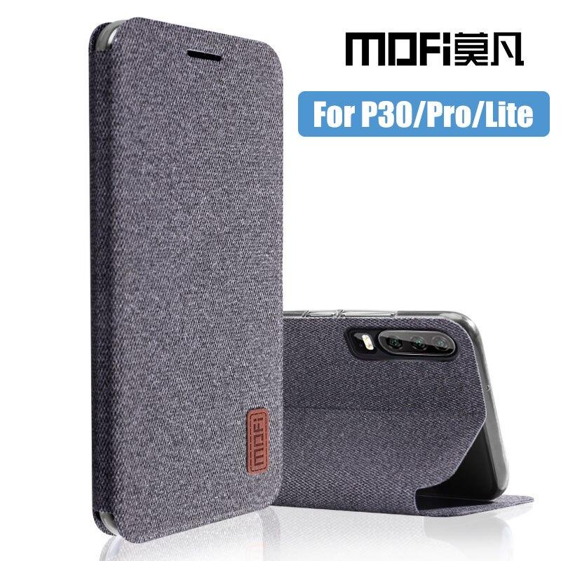Para Huawei P30 Lite funda P30 Pro flip cover protección completa silicona coque tela funda fundas MOFi original P30 funda