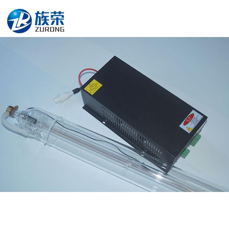 Kit de 1 Uds. De tubo láser de 40W de longitud de 700mm y fuente de alimentación láser Co2 SHZR