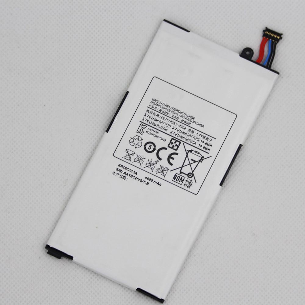 5 шт./лот запасная батарея для планшета SP4960C3A для Samsung GALAXY Tab GT P1000 P1010 4000 мАч литиевая батарея