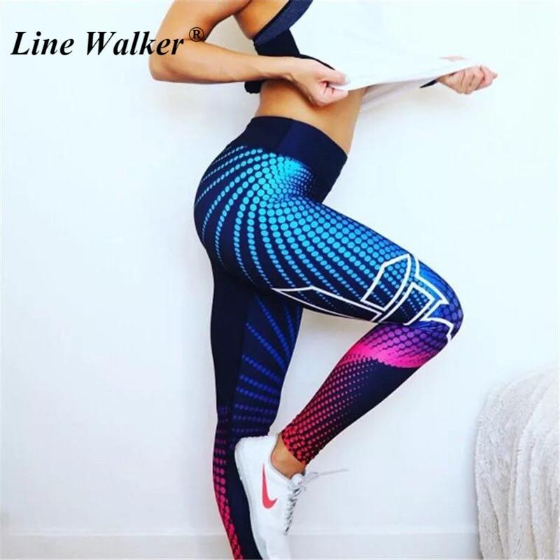 Linie Walker Hohe Taille yoga hosen calzas deportivas mujer fitness gym leggings push-up Sport fitness Für Frauen Plus Größe