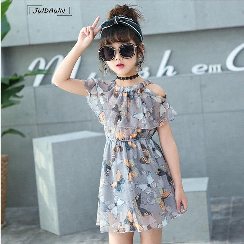 Платья с цветочным узором для девочек; Праздничные платья с бабочками для девочек; Платье принцессы; Летняя праздничная одежда для подростков; Платье для девочек; Vestidos