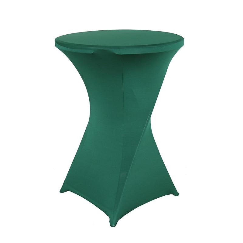 Темно-зеленый Эластичный высокий чехол для коктейльного стола для свадьбы, праздника, банкета, отеля, украшения дома, спандекс скатерть