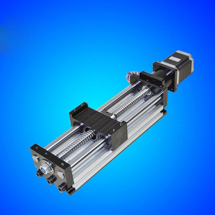 وحدة توجيه CNC 1610 80*50 ، طاولة منزلقة 200 مللي متر ، شوط فعال 1610 كرة لولبية محرك متدرج نيما 23