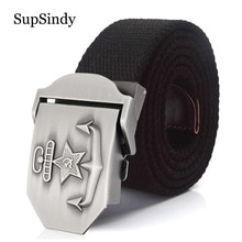 SupSindy Men&Women Canvas belt 3D Soviet navy USSR CCCP Metal buckle jeans belt Soldiers military Army tactical belts male strap