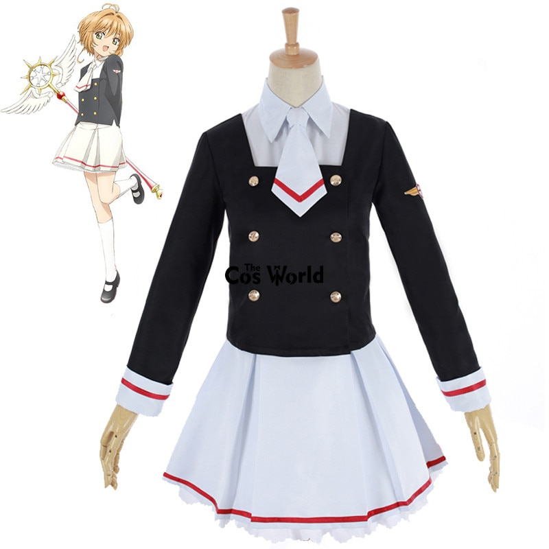 Cardcaptor Sakura CLEAR CARD Kinomoto Sakura Li Syaoran, школьная форма, топы, платье, пальто, штаны, наряд, костюмы для косплея