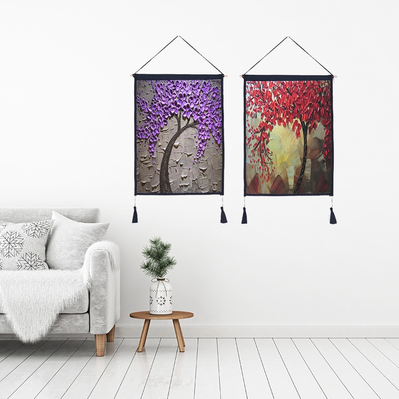 Impresión 3D árbol colgante pintura para sala de estar decoración de la pared 3D diseño de la flor lienzo impresión pintura arte cuadros
