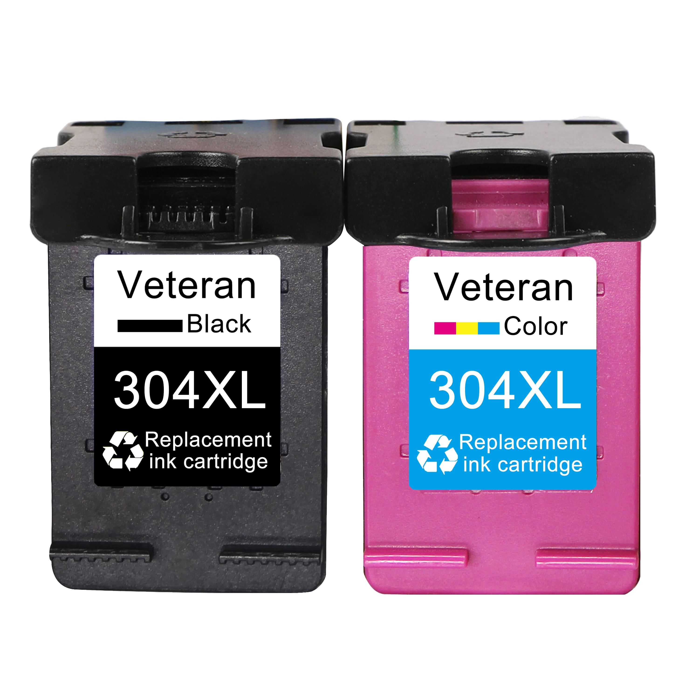 Veteran 304XL Ink Cartridge Compatible for HP304 HP 304 XL Envy 5010 5020 5030 5032 5034 Deskjet 2632 2630 2620 3720 3721 3723