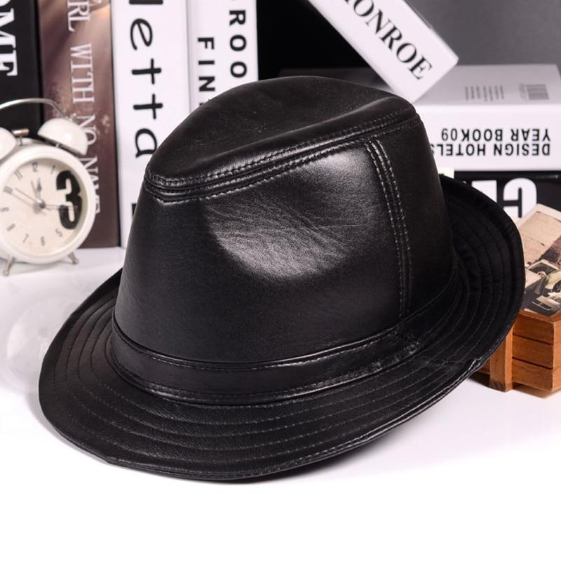 قبعات شتوية من الجلد الطبيعي للرجال والنساء ، قبعة عريضة الحواف بتصميم بريطاني ، مقاس 55-60 سنتيمتر ، لون بني ، 2020