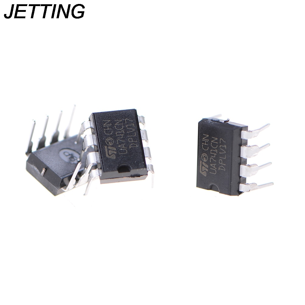 Chorro de 10 unids/lote UA741CN LM741 741 operacional amplificador operacional OP DIP 8 IC