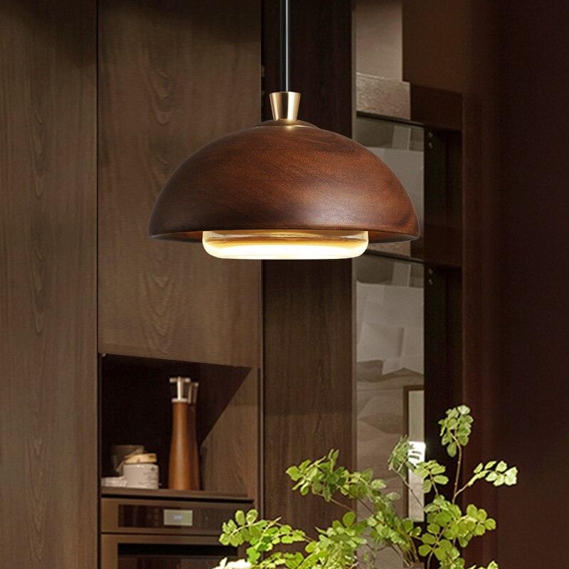 Luces colgantes modernas lámparas colgantes de madera LED para sala de estar dormitorio Hanglampe accesorios de iluminación para el hogar Lampen cabezas individuales Lampa