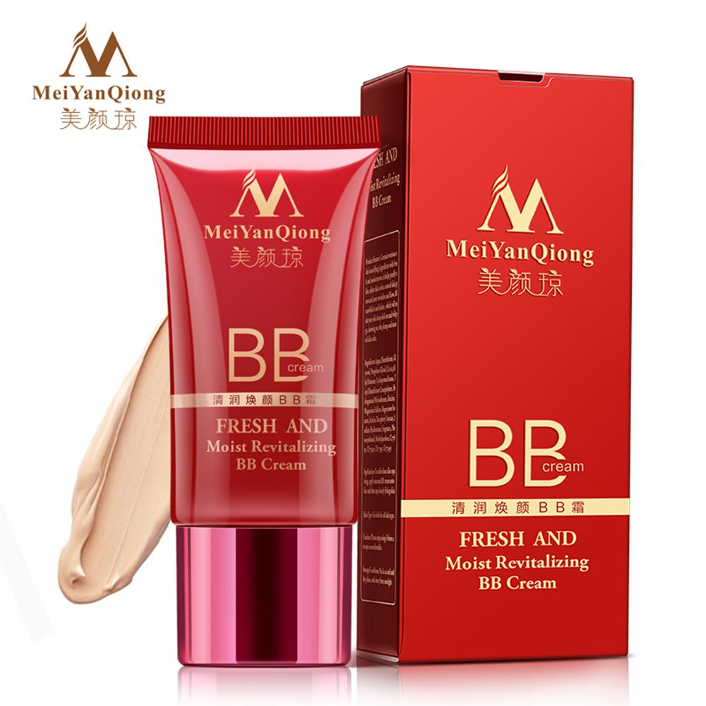 MeiYanQiong crema BB correctora Natural fresca y húmeda crema BB revitalizante blanqueamiento cuidado facial base compacta cosméticos Coreanos
