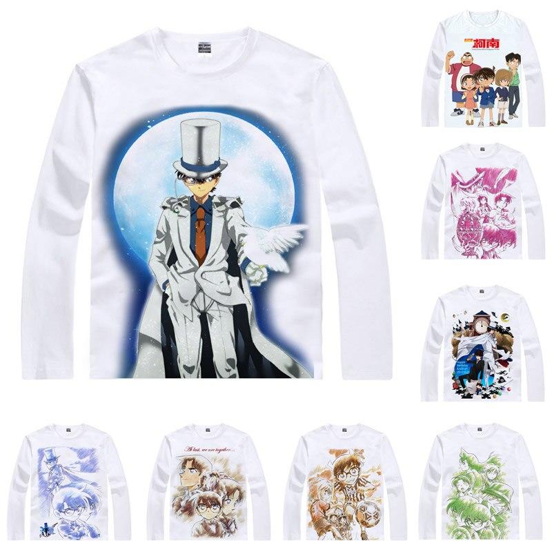 Meitantei Conan Detective Konan Camisetas Homens Hip Hop Camisas Longas Da Luva Jimmy Kudo Motivs Rachel Moore Cosplay Anime Camisas Homens